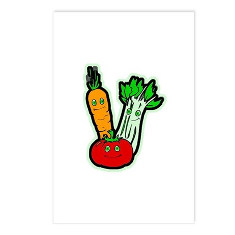 Veggie Friends Postcards (Package of 8)