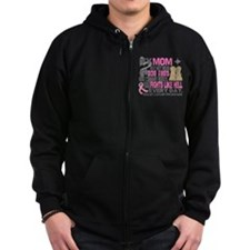 Dog Tags Breast Cancer Zip Hoodie
