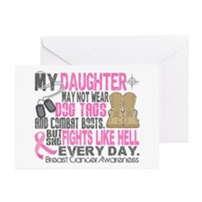 Dog Tags Breast Cancer Greeting Cards (Pk of 20)