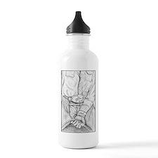 Rodeo Bull Rider Art Water Bottle