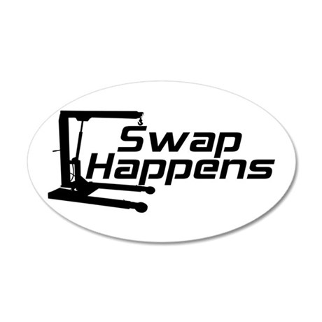 Swap Happens 38.5 x 24.5 Oval Wall Peel