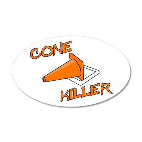 Cone Killer 20x12 Oval Wall Decal