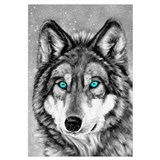 Painted Wolf Grayscale