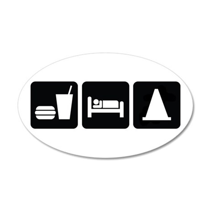Eat Sleep AutoX 20x12 Oval Wall Decal