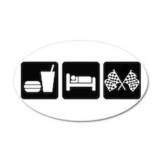 Eat Sleep Race 35x21 Oval Wall Decal