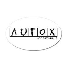 AutoX Anti-Drug 35x21 Oval Wall Decal