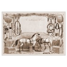 Saddler's Card Saddle Horses Print