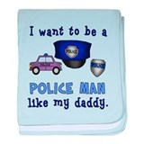 Cop Like Daddy baby blanket