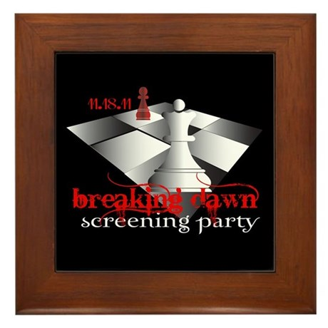 Breaking Dawn Screening Party Framed Tile