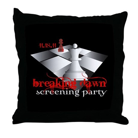 Breaking Dawn Screening Party Throw Pillow