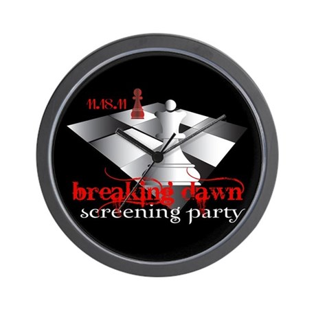 Breaking Dawn Screening Party Wall Clock
