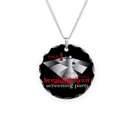 Breaking Dawn Screening Party Necklace Circle Char