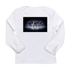Cool Ice hockey skates Long Sleeve Infant T-Shirt