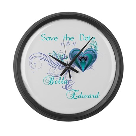 Breaking Dawn Screening Party Large Wall Clock
