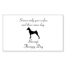 Basenji Therapy Dog Stickers
