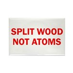 SPLIT WOOD NOT ATOMS Rectangle Magnet (100 pack)