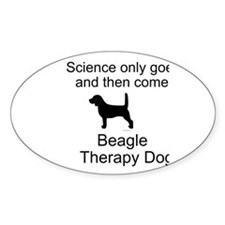 Beagle Therapy Dog Stickers