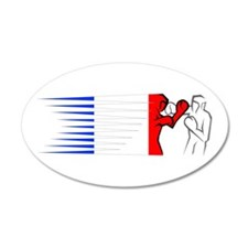 Boxing - France 22x14 Oval Wall Peel