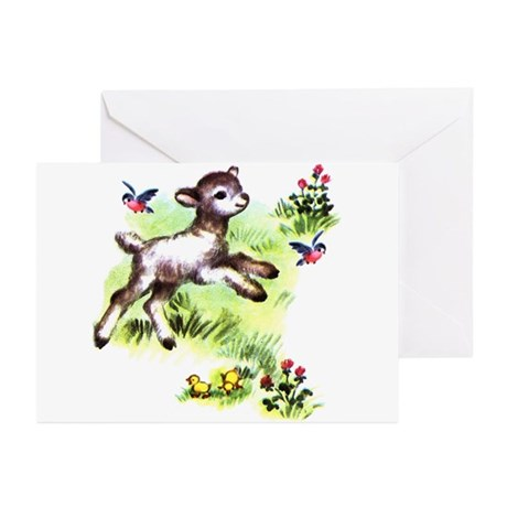 Cute Baby Lamb Sheep Greeting Cards (Pk of 10)