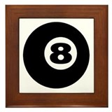 EIGHT BALL Framed Tile