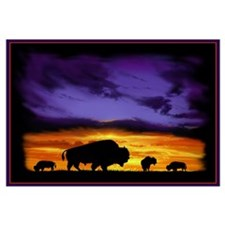 Cute Bison art Wall Art
