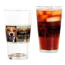 New Year - Golden Elegance - Beagle Drinking Glass