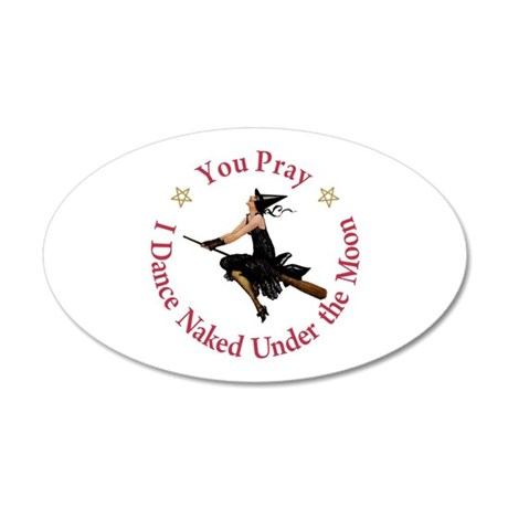 Dance Naked Under the Moon 20x12 Oval Wall Decal