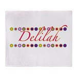 Delilah with Flowers Throw Blanket