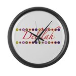 Delilah with Flowers Large Wall Clock