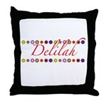 Delilah with Flowers Throw Pillow