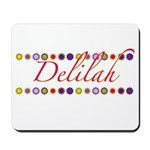 Delilah with Flowers Mousepad
