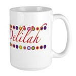 Delilah with Flowers Large Mug