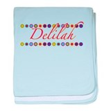 Delilah with Flowers baby blanket