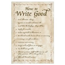 How to Write Good 11x17 , Calligraphy