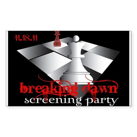 Breaking Dawn Screening Party Sticker (Rectangle 1