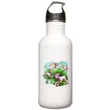 Cute Sheep Baby Lambs Water Bottle