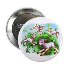 "Cute Sheep Baby Lambs 2.25"" Button (100 pack)"