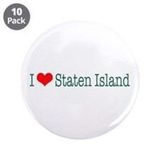 "I Love Staten Island 3.5"" Button (10 pack)"