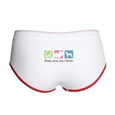 Peace, Love, Rat Terriers Women's Boy Brief