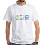 Peace, Love, Salukis White T-Shirt