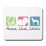 Peace, Love, Salukis Mousepad