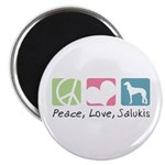 Peace, Love, Salukis Magnet
