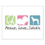 Peace, Love, Salukis Small Poster