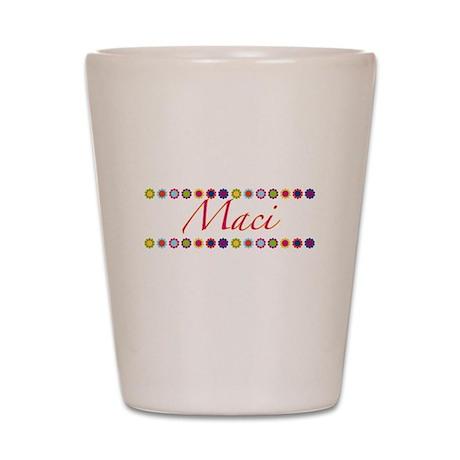 Maci with Flowers Shot Glass
