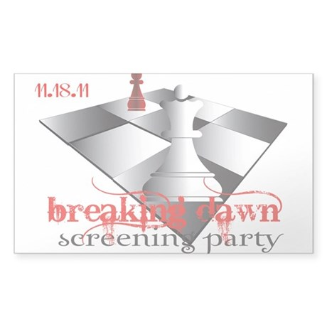 Breaking Dawn Screening Party Sticker (Rectangle 5
