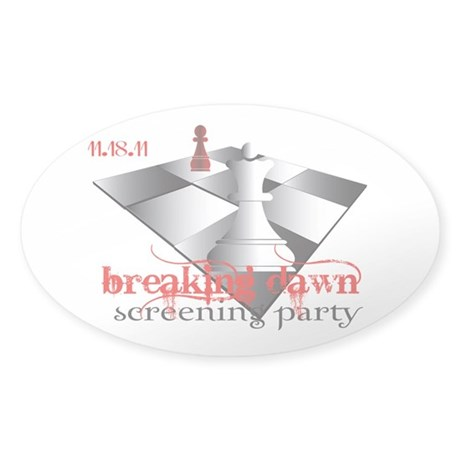 Breaking Dawn Screening Party Sticker (Oval 50 pk)