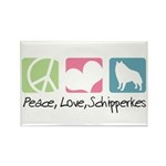 Peace, Love, Schipperkes Rectangle Magnet (10 pack