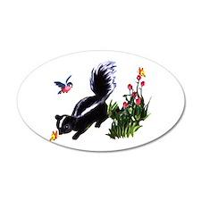 Cute Baby Skunk 38.5 x 24.5 Oval Wall Peel