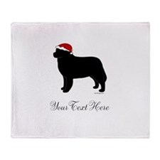 Berner Santa - Your Text Throw Blanket
