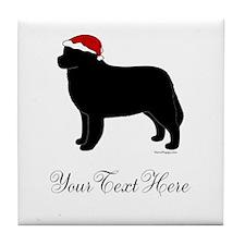 Berner Santa - Your Text Tile Coaster